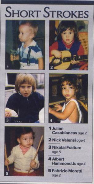 The Strokes quando eram crianças