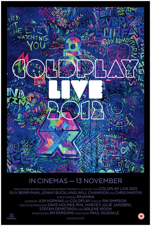 Coldplay lança clipe ao vivo e novo DVD da banda será exibido nos cinemas