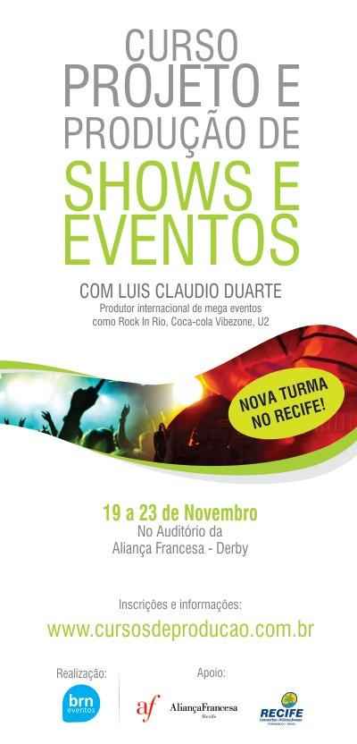 Curso de Projeto e Produção de Shows e Eventos no Recife