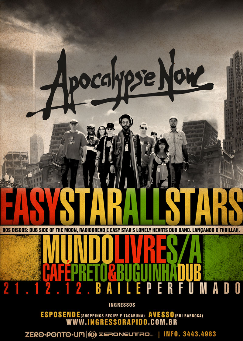 Festa Apocalipse Now usa vibrações do reggae para espantar o fim do mundo no Recife