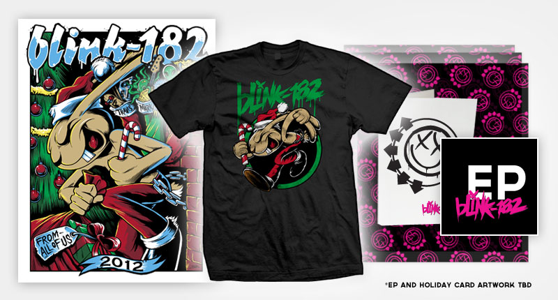 Pacote Santa's Lap do novo EP do blink-182