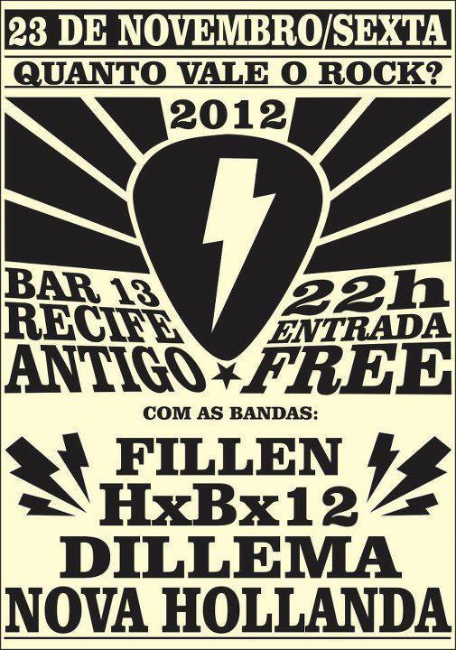 Bandas de hardcore do Recife promovem o Quanto Vale o Rock? 2012