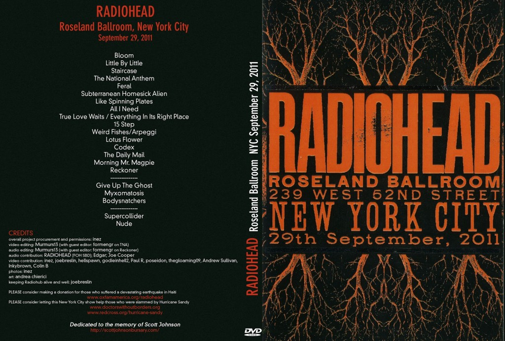 Radiohead - Roseland Ballroom, New York City