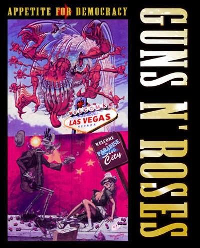Pôster do Guns N' Roses em Las Vegas