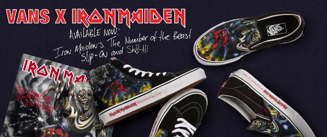 Iron Maiden lança tênis com arte do álbum