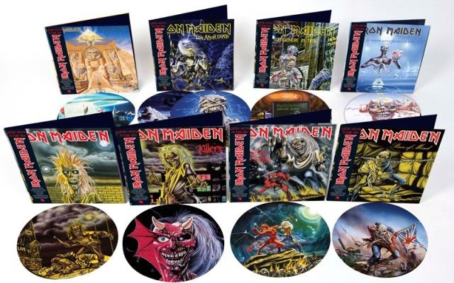 Iron Maiden relança seus 8 primeiros álbuns em vinil picture disc