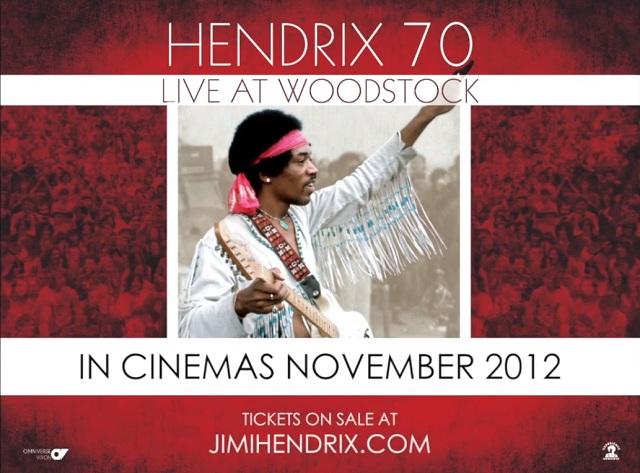 Performance lendária de Jimi Hendrix em Woodstock vai ser transmitida do cinema