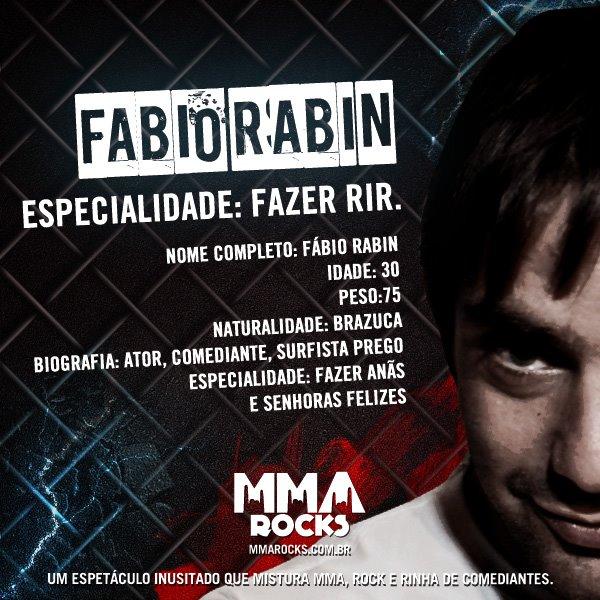 Fabio Rabin no MMA Rocks