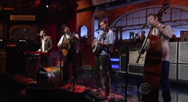 Mumford & Sons no Late Show with David Letterman