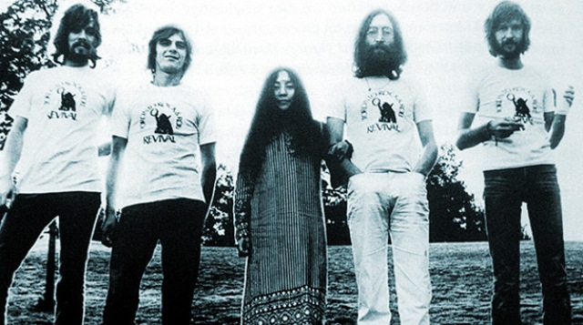 John Lennon e Eric Clapton na Plastic Ono Band