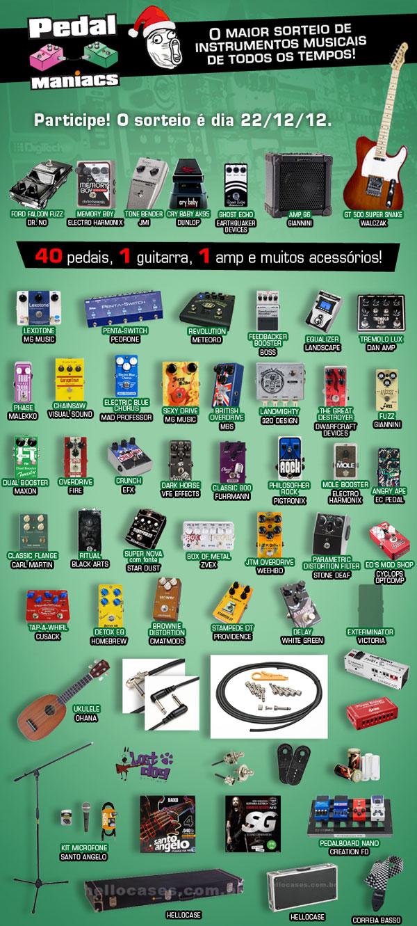 Pedalmaniacs super promocao de pedais e instrumentos musicais 2012
