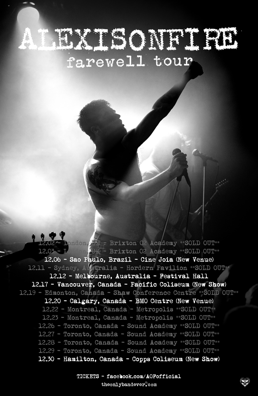 Alexisonfire inicia última turnê da carreira