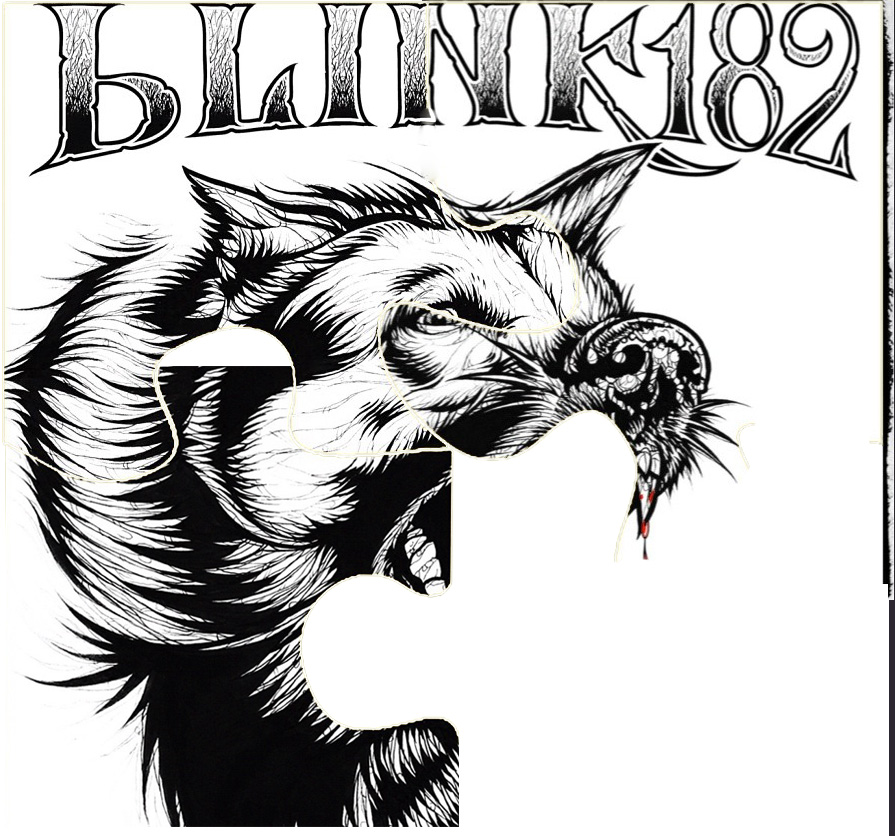 Capa do novo EP do blink-182 incompleta