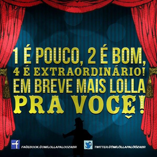 ollapalooza Brasil se prepara para anunciar quatro surpresas