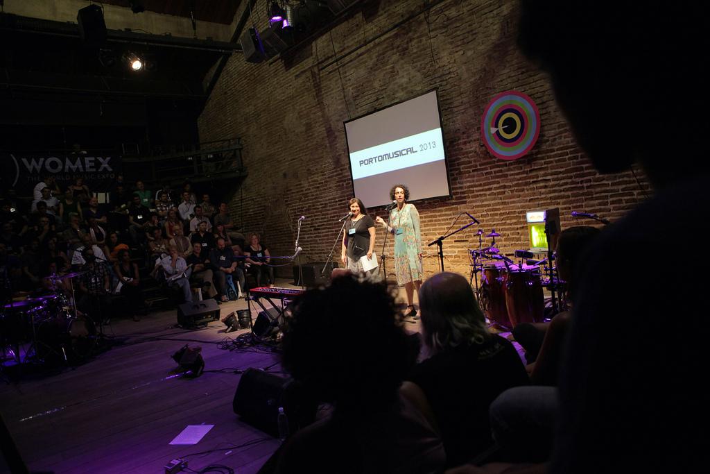 Apresentação do Porto Musical 2013 por Christine Semba (Womex) e Melina Hickson (Fina Produção)