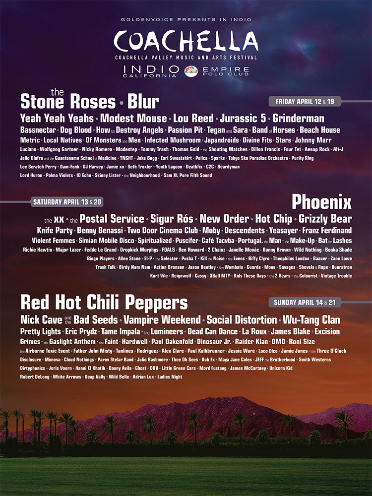 Coachella 2013: Blur irá substituir The Stone Roses como headliner