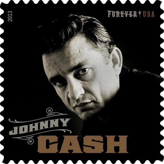Johnny Cash vira selo de correio