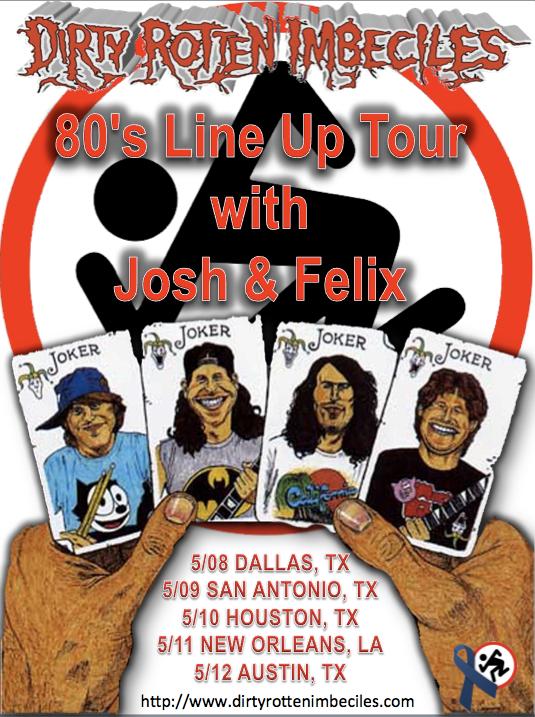 Poster da turnê de reunião dos membros dos anos 80 do D.R.I.