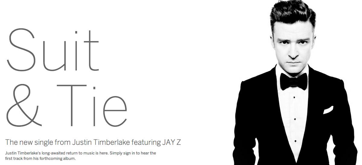 Justin Timerlake marca seu retorno como cantor