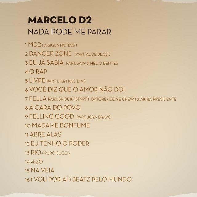 Veja a tracklisting do novo álbum do Marcelo D2