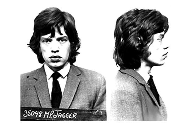 Mick Jagger na prisão