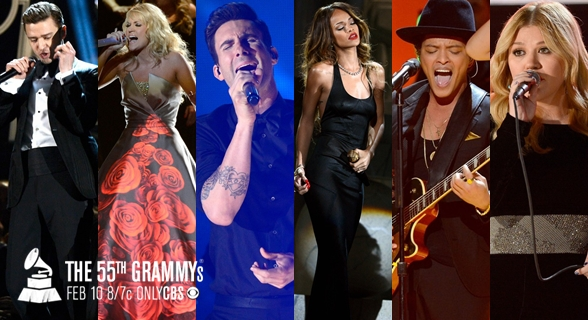 Assista a performances realizadas no Grammy Awards 2013