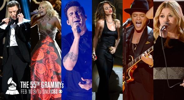 Assista a performances realizadas no Grammy Awards 2013