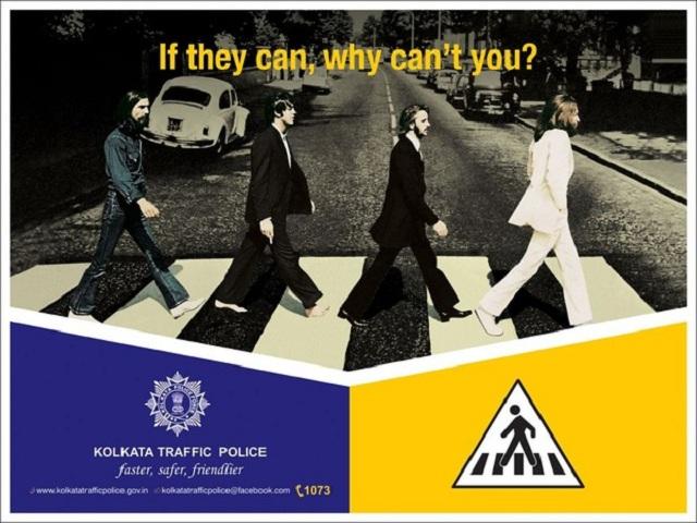 Capa de Abbey Road será usada em campanha de trânsito