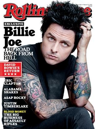 Billie Joe, do Green Day, na capa da Rolling Stone