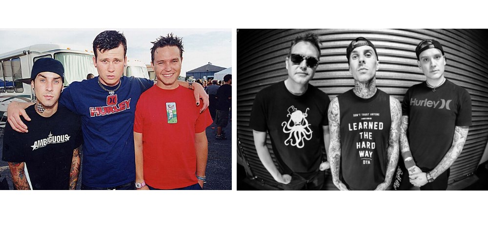 Blink-182 com Tom DeLonge e com Matt Skiba