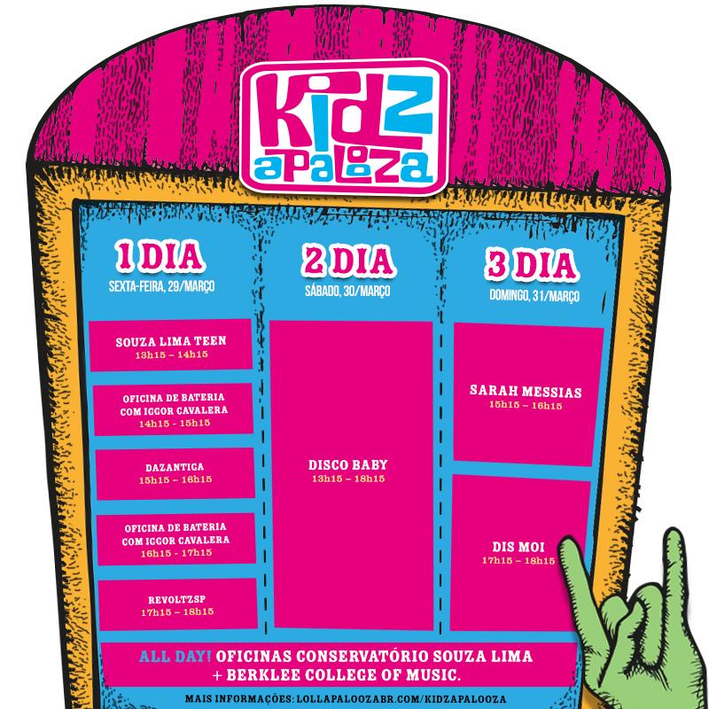 Programação do Kidzapalooza no Lollapalooza Brasil 2013