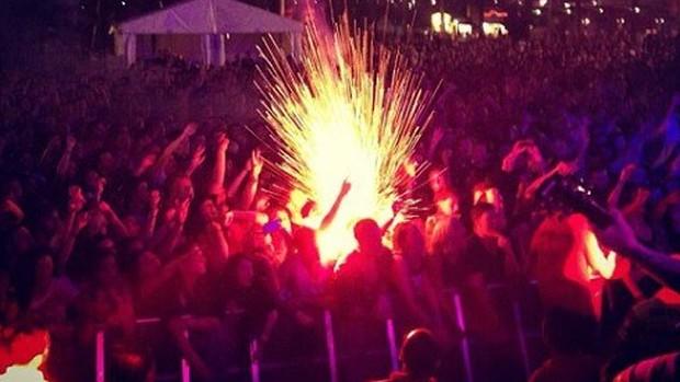 Sinalizador causa acidente no Soundwave Festival em Sydney