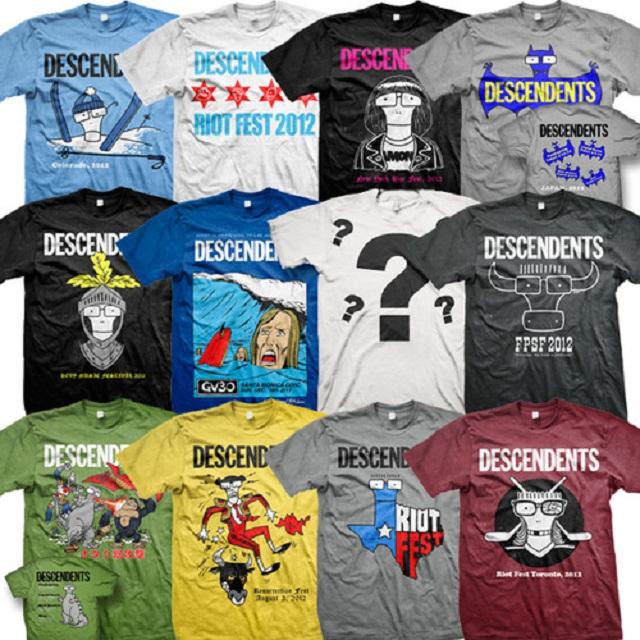 Descendents lança box de camisetas