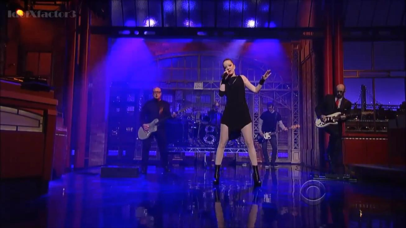 Garbage no Late Show with David Letterman