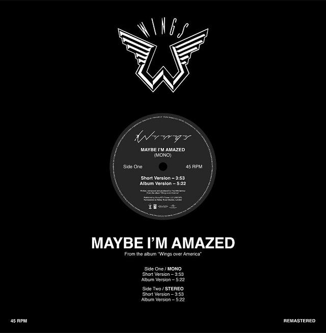 """Vinil de """"Maybe I'm Amazed"""" confirmado para Record Store Day"""