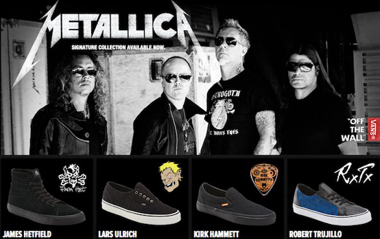 Tênis VANS do Metallica