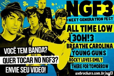 Next Generation Fest 3 seleciona bandas brasileiras para o festival