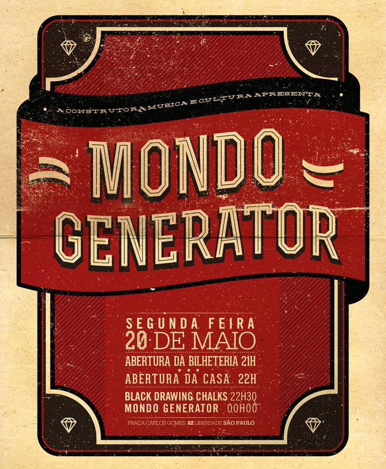 Mondo Generator e Black Drawing Chalks juntos em São Paulo