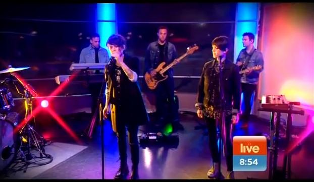 Na televisão: Tegan and Sara e Depeche Mode