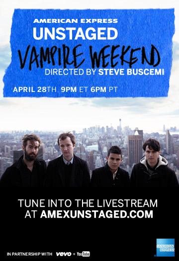 Vampire Weekend transmitirá show ao vivo pela web