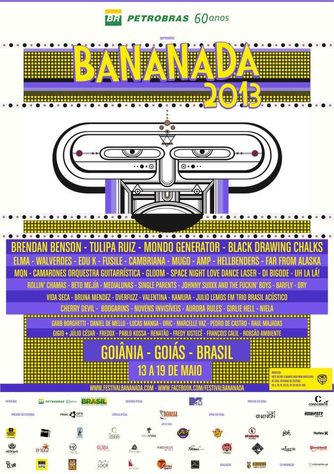 Promoção: Kit de discos do Festival Bananada 2013