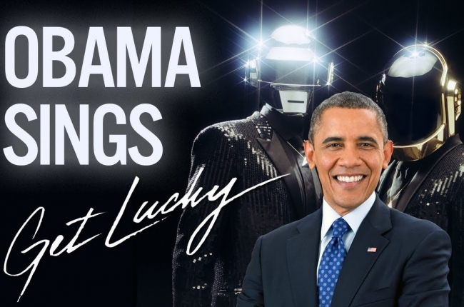 "Barack Obama canta ""Get Lucky"" do Daft Punk"