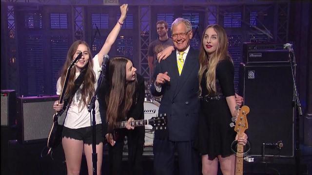 Haim no programa de David Letterman