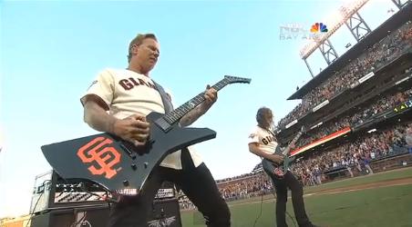 Metallica toca hino dos Estados Unidos
