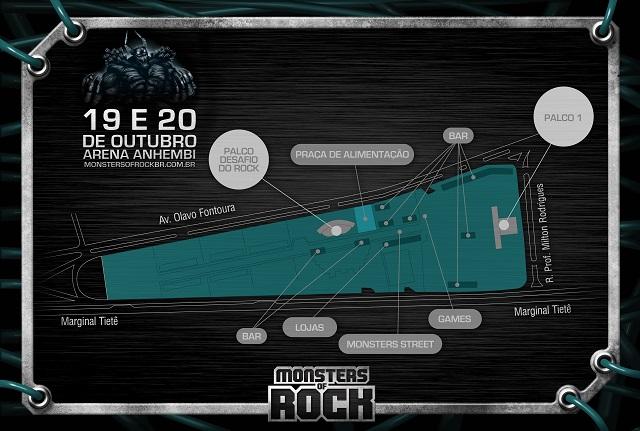 Mapa do Monsters Of Rock