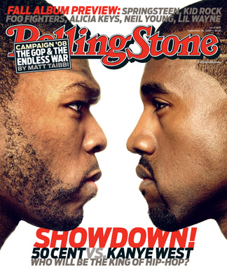 "50 Cent e Kanye West ""brigam"" em capa da Rolling Stone"