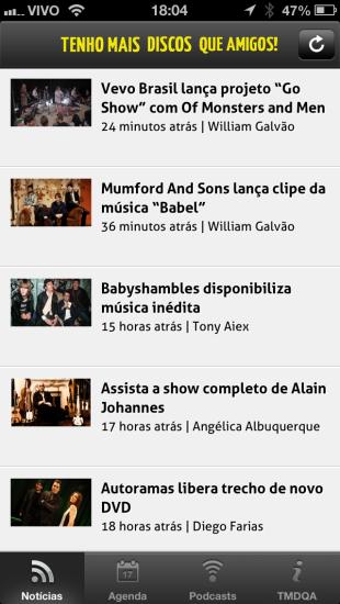 Notícias do app do TMDQA!