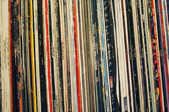 Biblioteca de discos de vinil em Londres