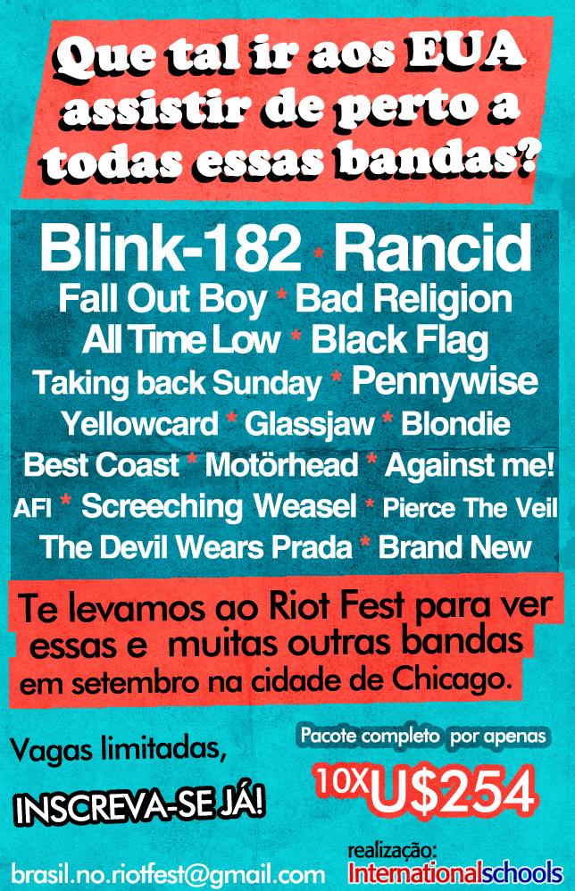 Excursão Riot Fest - Chicago