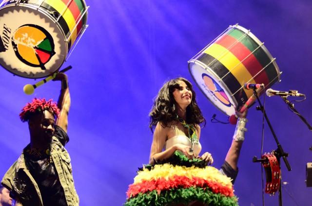 Kimbra e Olodum no Rock in Rio